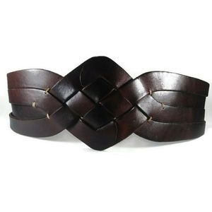 caec3e86c Ted Baker Mahogany Woven Chunky Wide Waist Belt M